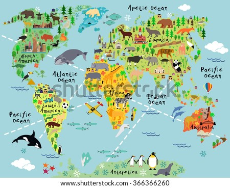 copy political outline printable best of the blank free cartoon world map with animal and sightseeing attractions