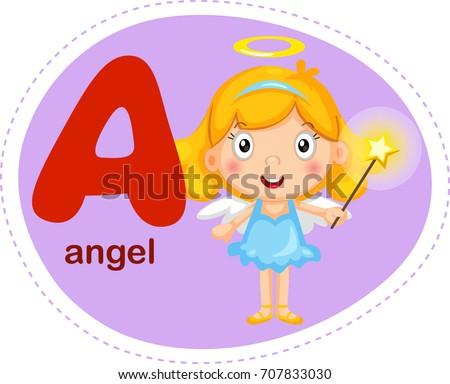 Cartoons alphabet letter e elephant stock vector 707836042 cartoons alphabet letter a is for angel thecheapjerseys Images