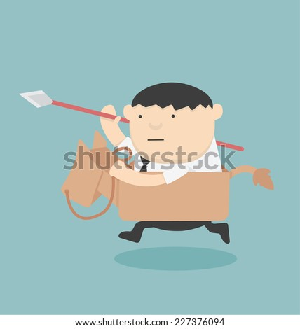 Cartoons concepts Business strategy - stock vector