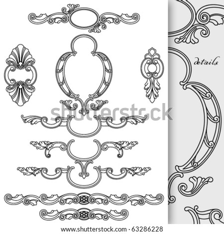 Cartouches collection. Good for text decoration - stock vector