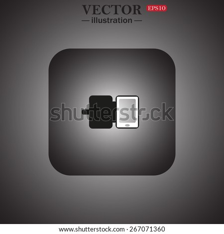 Case for phone, web icon. vector design