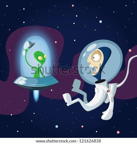Case in space - stock vector