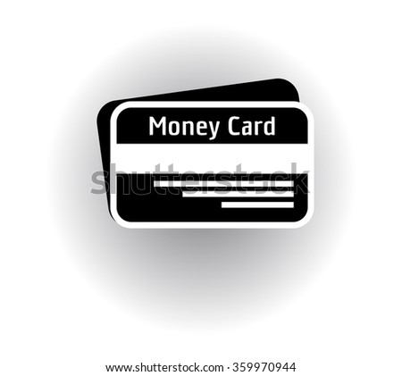 cash card on a gray background