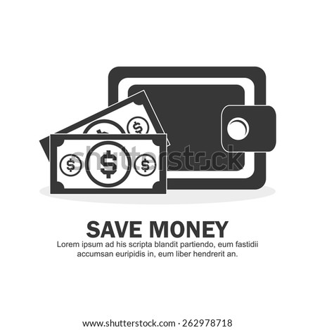 Cash Money icon; Vector Illustration - stock vector