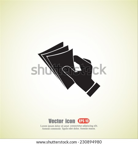 cash vector icon - stock vector