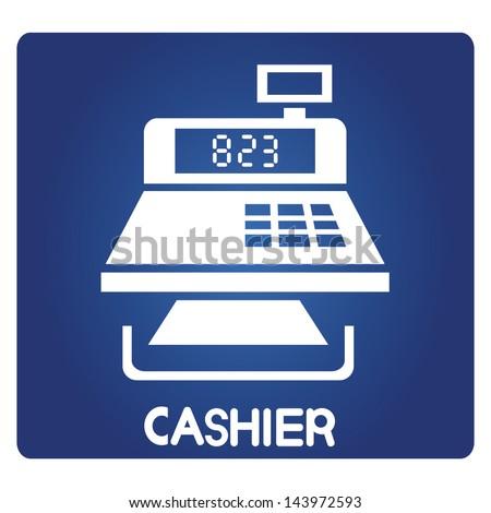 cashier symbol, vector
