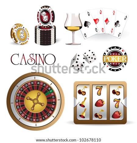casino - stock vector