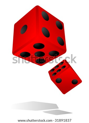 Casino abstract Two dices rendered