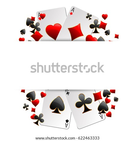 casino advertising design with playing cards