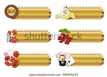 Casino and gambling banners - stock vector