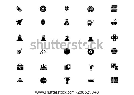 Casino and Gambling Vector Icons 2 - stock vector