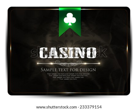 Casino card design - stock vector
