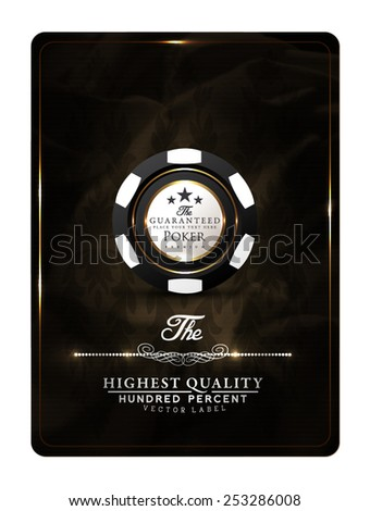 Casino card design vintage elegant poker VIP - stock vector