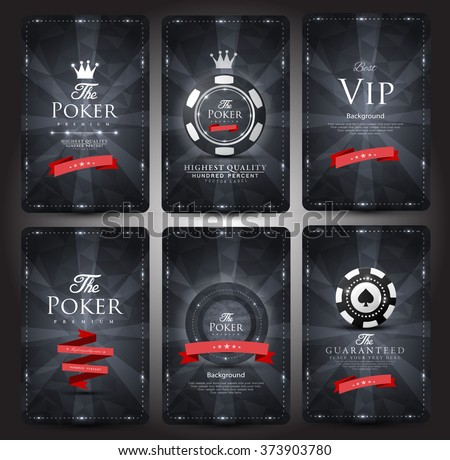 Casino card design-Vintage style-elegant - stock vector