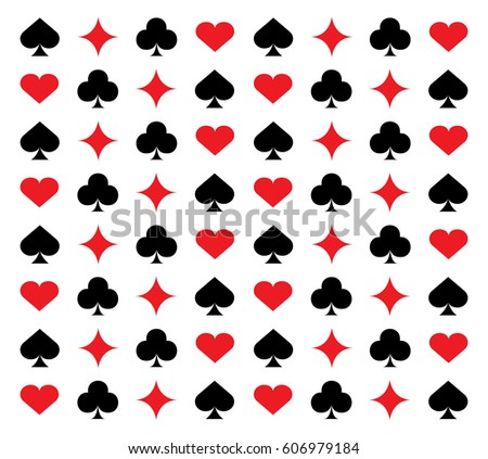Casino card sign pattern