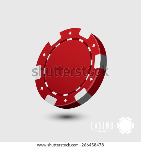 Casino chip isolated - vector - stock vector