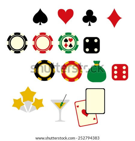 Casino chip vector.