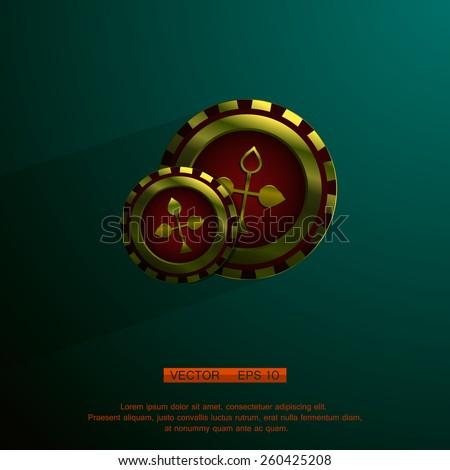 casino chips - stock vector