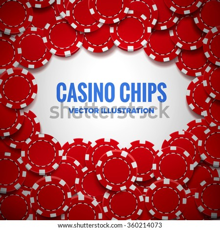 casino chips top view with shadows