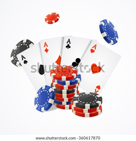 Casino Concept on a White Background. Vector illustration - stock vector