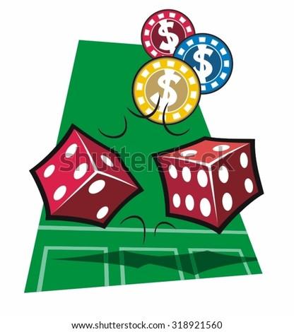 Gambling dice vector