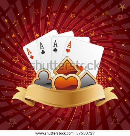 casino design elements,abstract background - stock vector