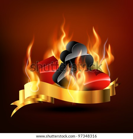 casino design elements on fire