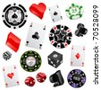 casino design elements vector - stock vector