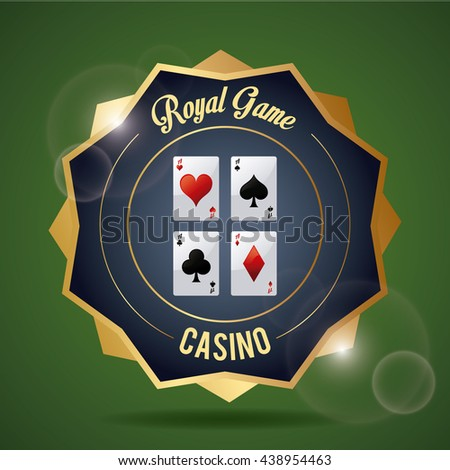 Casino design. Game icon. Colourful illustration