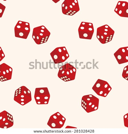 casino dice , cartoon seamless pattern background - stock vector