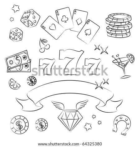 Casino Elements Collection. - stock vector
