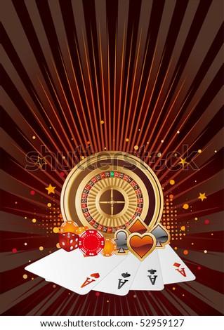 casino elements,gambling background - stock vector
