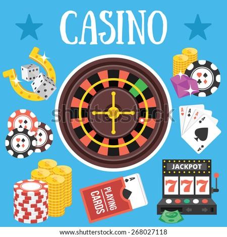 Casino. Flat design vector illustration - stock vector