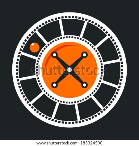 Casino game rate vector sign - stock vector