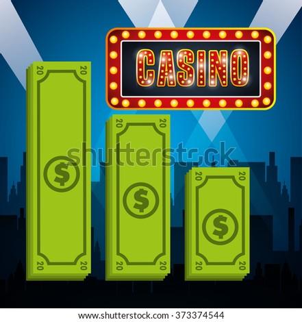 casino games design, vector illustration eps10 graphic  - stock vector