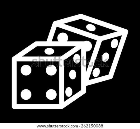 casino icon design, vector illustration eps10 graphic  - stock vector