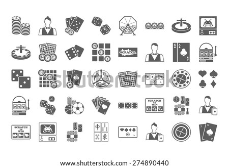 Casino icon. Vector Illustration isolated on white background. - stock vector