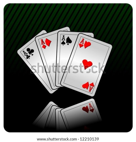 casino illustration with cards