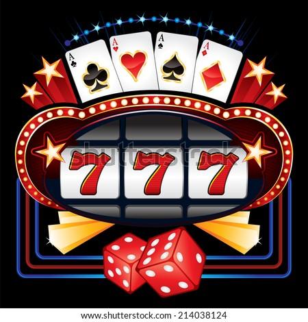 Casino machine - stock vector