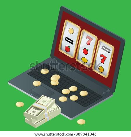 Online gambling vector art rent craps table chicago