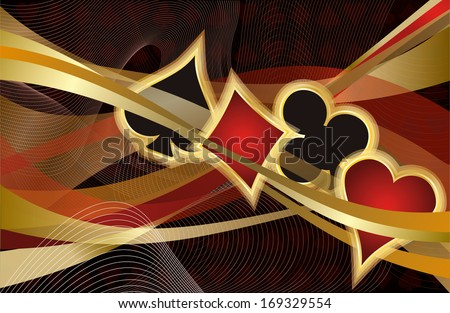 Casino Poker banner, vector illustration - stock vector