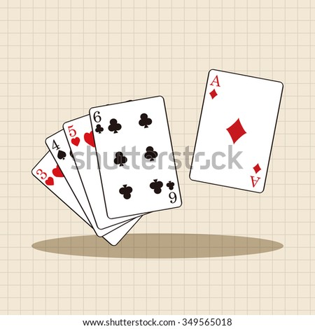 casino poker card theme elements - stock vector