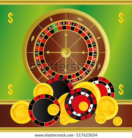Casino roulette. Gambling table for your design.