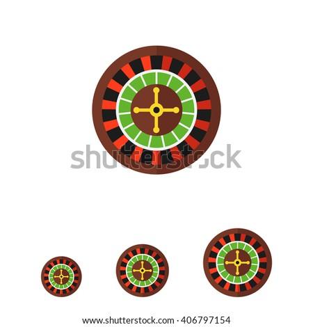 Casino roulette icon - stock vector