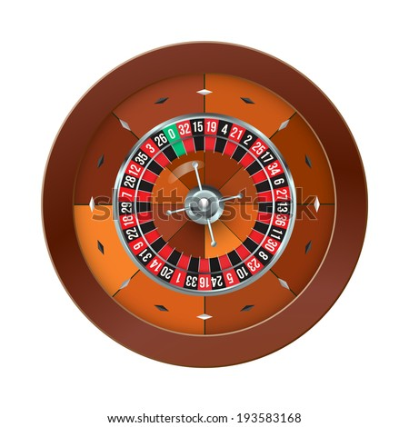 Casino Roulette isolated on white. Vector