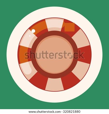 casino roulette theme elements - stock vector