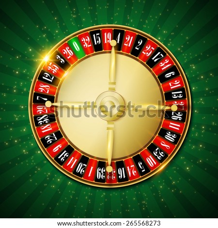 Casino roulette wheel. Vector illustration