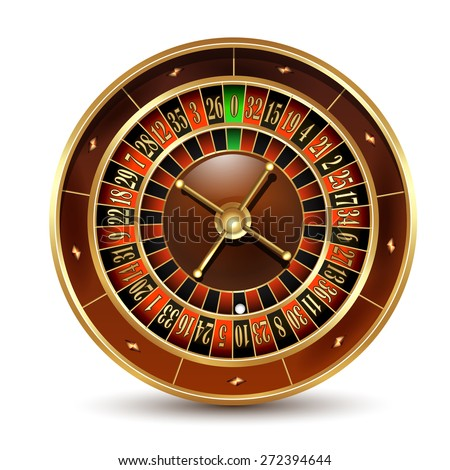 Casino roulette wheel. Vector illustration.