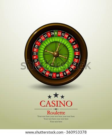 Casino roulette wheel. Vector illustration. Vip. - stock vector