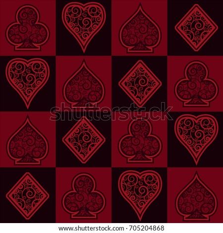 Casino seamless background, vector illustration